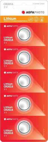 AGFAPhoto Lithium Coin CR2016 5pk (box of 5)