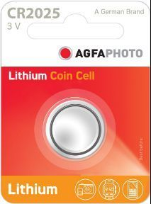 AGFA Photo Lithium Coin CR2025 1pk (box of 12)