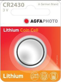 AGFA Photo Lithium Coin CR2430 1pk (box of 12)
