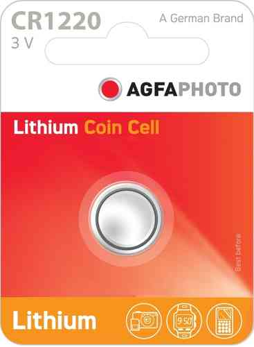 AGFA Photo Lithium Coin CR1220 1pk (box of 12)