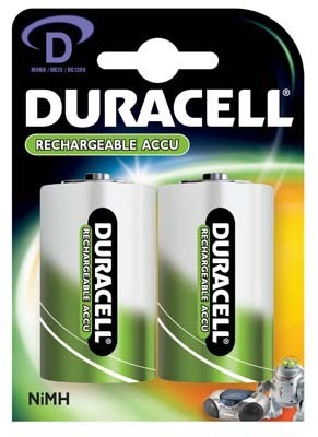Duracell Rechargeable D Pack of 2