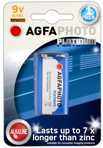 AGFA Photo Digital Alkaline 9v 1pk (box of 6)