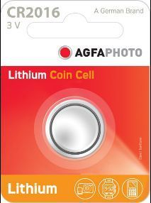 AGFAPhoto Lithium Coin CR2016 1pk (box of 12)
