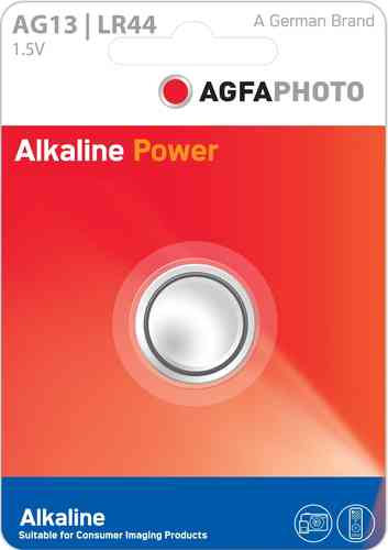 AGFAPhoto Alkaline LR44 / A76 1pk (box of 12)