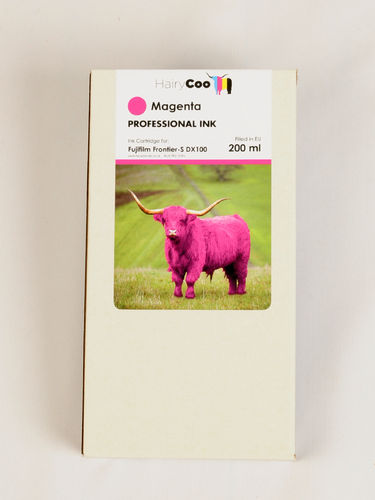 Hairy Coo Magenta 200ml Ink for Fuji DX100