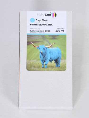 Hairy Coo Sky Blue 200ml Ink for Fuji DX100