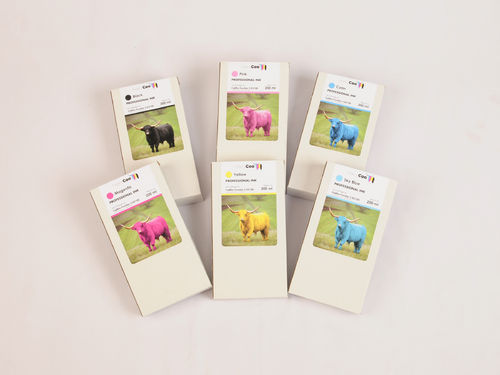 Hairy Coo Full Set of 200ml Ink for Fuji DX100