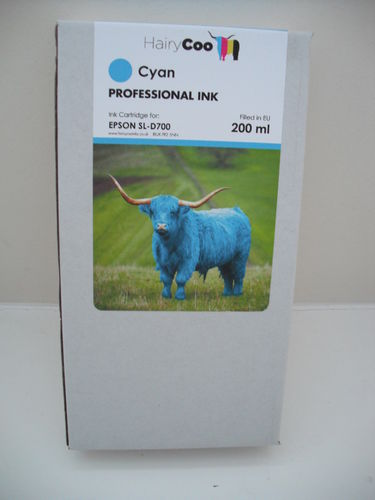 Hairy Coo Cyan 200ml Ink for Epson D700
