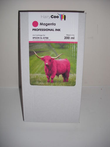 Hairy Coo Magenta 200ml Ink for Epson D700