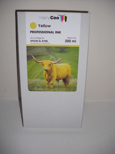 Hairy Coo Yellow 200ml Ink for Epson D700