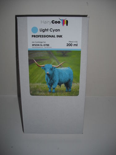Hairy Coo Light Cyan 200ml Ink for Epson D700